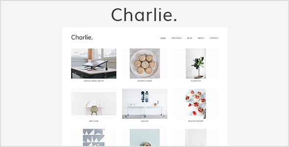 Charlie – Light Minimal Creative Portfolio Template            TFx