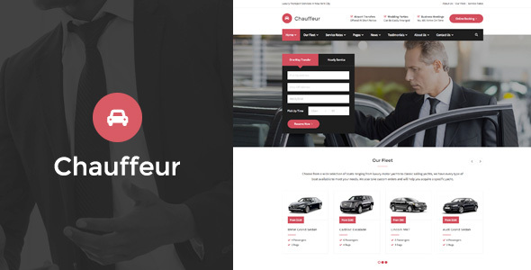 Chauffeur - Limousine, Transport And Car Hire WP Theme            TFx