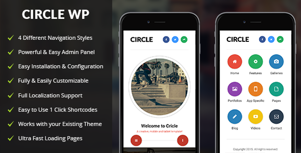Circle | Mobile WordPress Theme            TFx