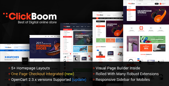 ClickBoom – Multipurpose eCommerce Responsive OpenCart Theme            TFx