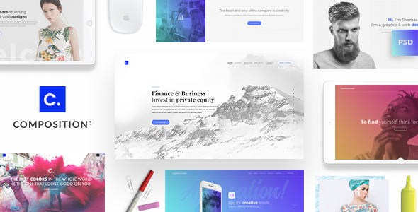 Composition No. 3 - Creative Multipurpose PSD Template            TFx