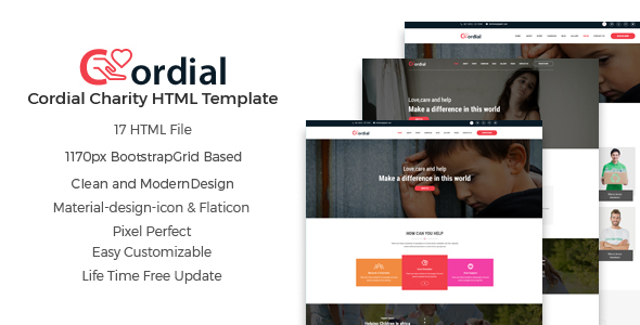 Cordial – Charity And Nonprofit HTML5 Template            TFx