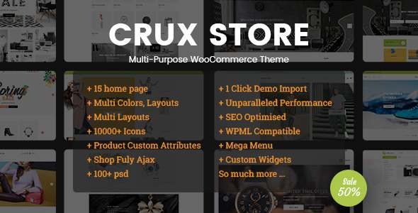 CruxStore - Multi-Purpose WooCommerce WordPress Theme            TFx