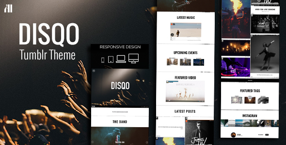 DISQO – Portfolio & Blogging Tumblr Theme            TFx