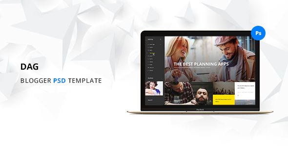Dag Blog PSD Template            TFx
