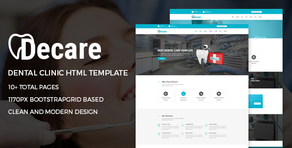 Decare - Dental Clinic HTML Template            TFx