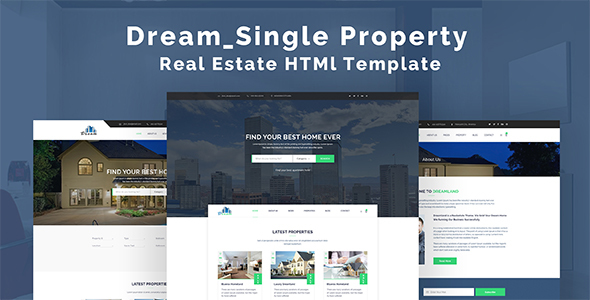 Dream - Single Property Real Estate HTML Template            TFx
