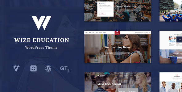 Education | Courses & Events LMS WordPress Theme - WizeEdu            TFx