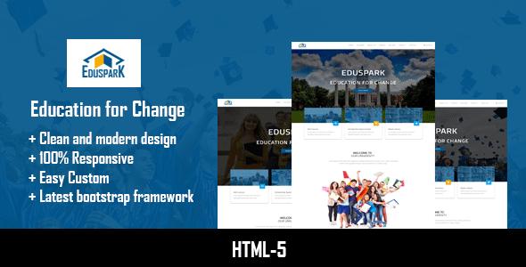 Eduspark | Modern HTML-5 Template            TFx
