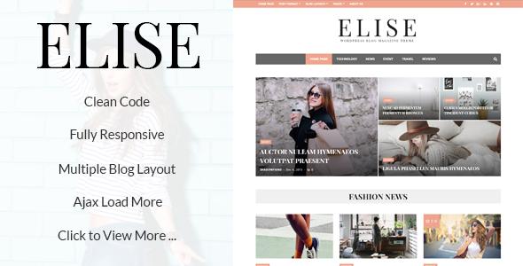 Elise - Wonderful WordPress Blog and Magazine            TFx