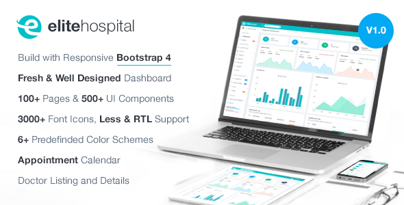 Elite Hospital - Bootstrap 4 Admin Template            TFx