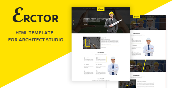 Erctor – Responsive Architecture / Architect Template            TFx