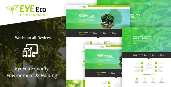 EyeEco Friendly Environmental Nature Ecology Template            TFx