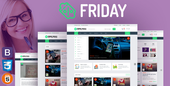 FRIDAY – Coupons, Deals, Discounts & Promo Codes Template            TFx