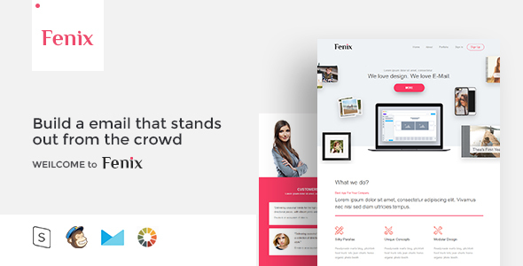 Fenix - Responsive Email Template Minimal            TFx