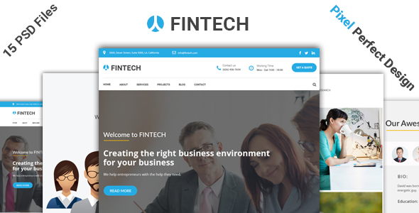Fintech – Business, Finance & Corporate Template            TFx