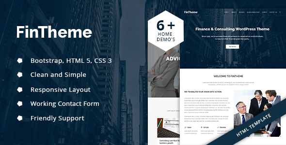 Fintheme – Finance HTML Template – For Finance & Consultants            TFx