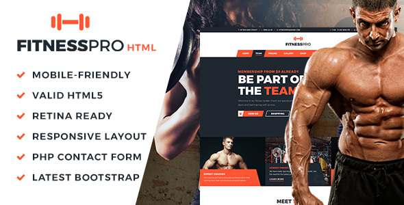 FitnessPro HTML Template            TFx