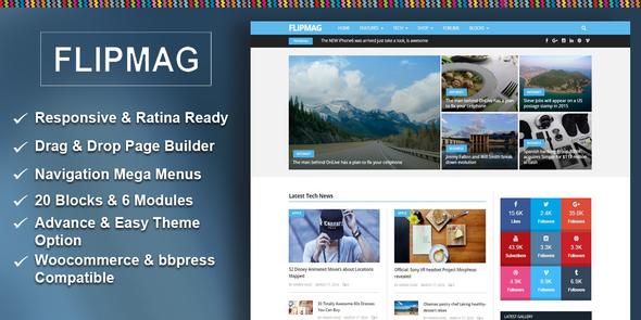 Flip Mag - Responsive WordPress News Theme            TFx
