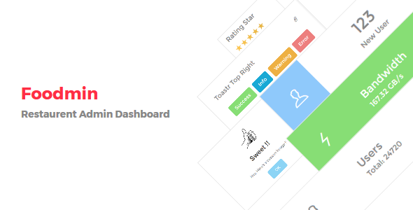 Foodmin - Restaurant Admin Dashboard            TFx
