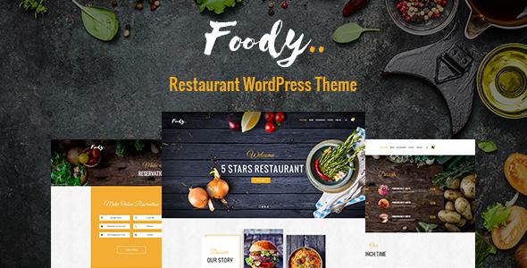 Foody - Luxury Restaurant WordPress Theme            TFx