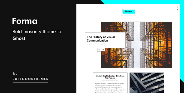 Forma – Bold Masonry Theme For Ghost            TFx