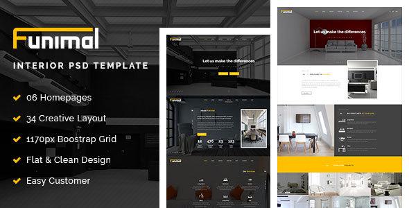 Funimal - Premium Furniture/Interior PSD Template            TFx
