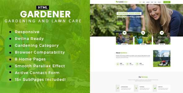 Gardening - Gardening and Landscaping HTML Template            TFx