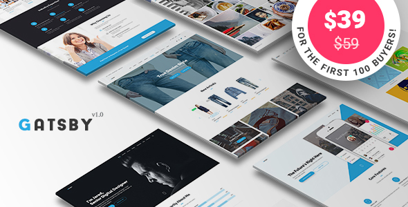 Gatsby - WordPress + eCommerce Theme            TFx
