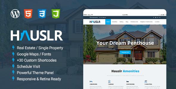 Hauslr - Single Property WordPress Theme            TFx