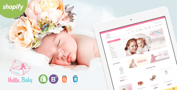 Hello Baby - Sectioned Shopify Theme            TFx