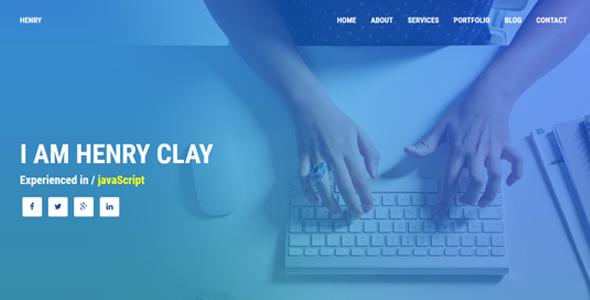 Henry - Personal HTML Portfolio            TFx