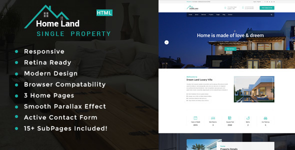 Homeland | Real Estate Single Property HTML5 Template            TFx