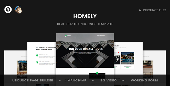 Homely - Real Estate Unbounce Template            TFx
