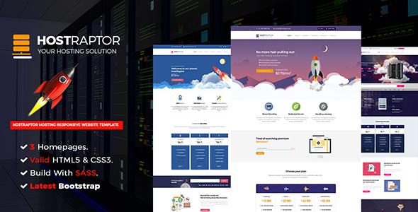 Hostraptor - Hosting Responsive Website Template            TFx