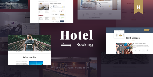 Hotel Booking - Travel Hotel Booking PSD Template            TFx