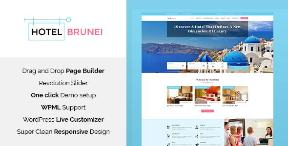 Hotel Brunei - Hotel Booking WordPress Theme            TFx