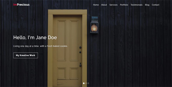 Imprecious – OnePage Responsive Personal Template            TFx