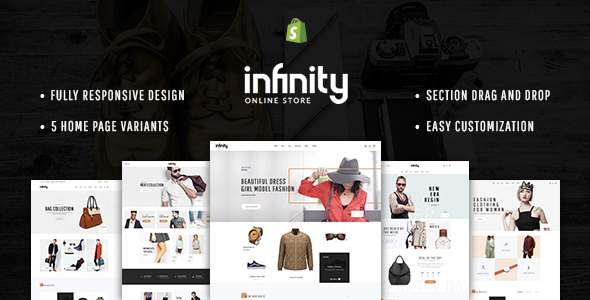 Infinity - Multipurpose Responsive Shopify Theme with Section Drag & Drop            TFx