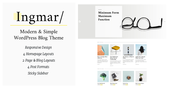 Ingmar - Modern Lifestyle WordPress Theme            TFx