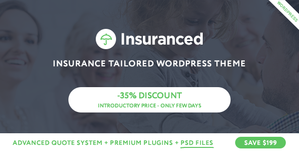 Insuranced -  Insurance WordPress Theme            TFx