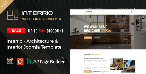 Interrio - Architecture & Interior design Joomla Template            TFx