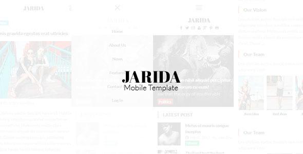 Jarida - Magazin Mobile Template            TFx