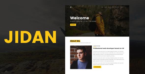 Jidan -Modern Personal Portfolio Template            TFx