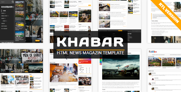 KHABAR – News Magazin Template            TFx