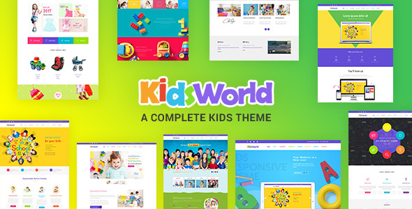 Kids World - Children, Education WordPress Theme            TFx