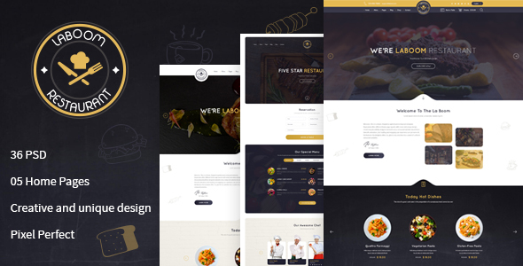 La Boom - Food & Restaurant PSD Template            TFx