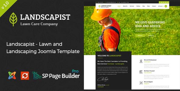 Landscapist - Lawn & Landscaping Joomla Template            TFx