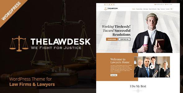 Law Desk - Lawyer Attorney WordPress Theme            TFx