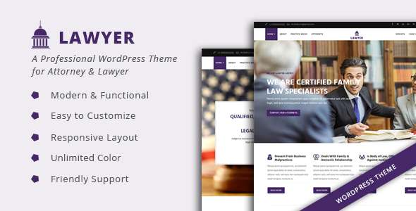 Lawyer – A Professional WordPress Theme for Attorney & Lawyer            TFx